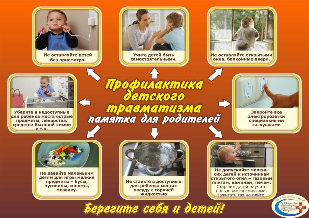 Памятка Профилактика детского травматизма